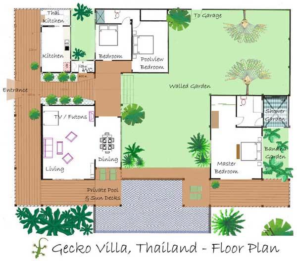 Floorplan on Pool House Plans With Garage