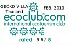 eco rating of the villa